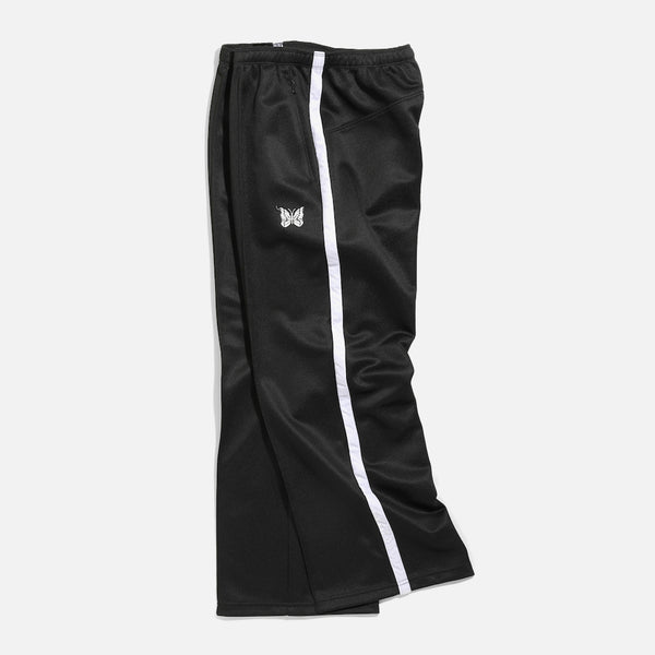 Side Line Seam Pant Bright Poly Jersey in Black / White from Needles Autumn / Winter 2020 collection blues store www.bluesstore.co