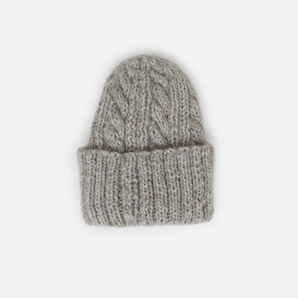 Inverallan for Colourway Cable Knit Beanie - Oatmeal