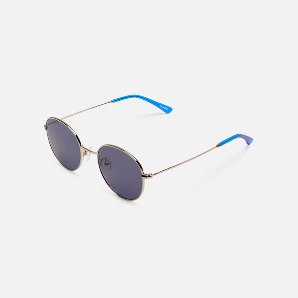Sun Buddies Ozzy Sunglasses - Silver/Silicon Valley Blue