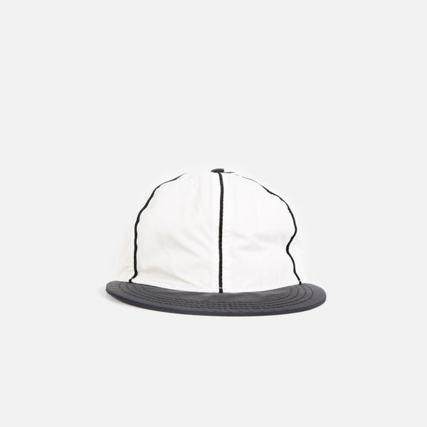 Paa Ball Cap in White / Black Nylon Tussah Blues Store