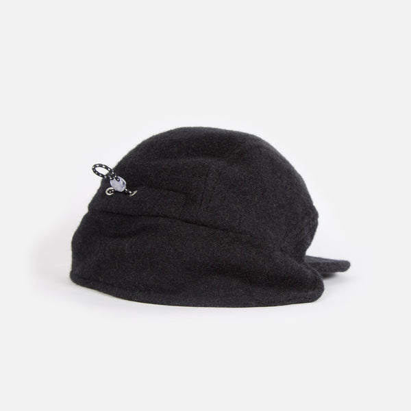 Paa Ear Flap Cap in Charcoal Melton Blues Store