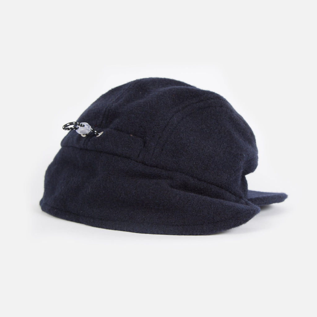 Paa Ear Flap Cap in Navy Melton Blues Store