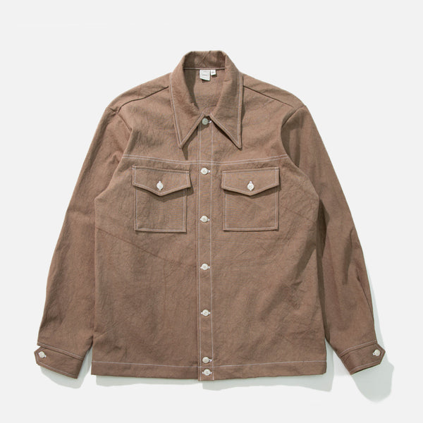 Rodeo Shirt in Brown Sun Dried Canvas from Paa blues store www.bluesstore.co