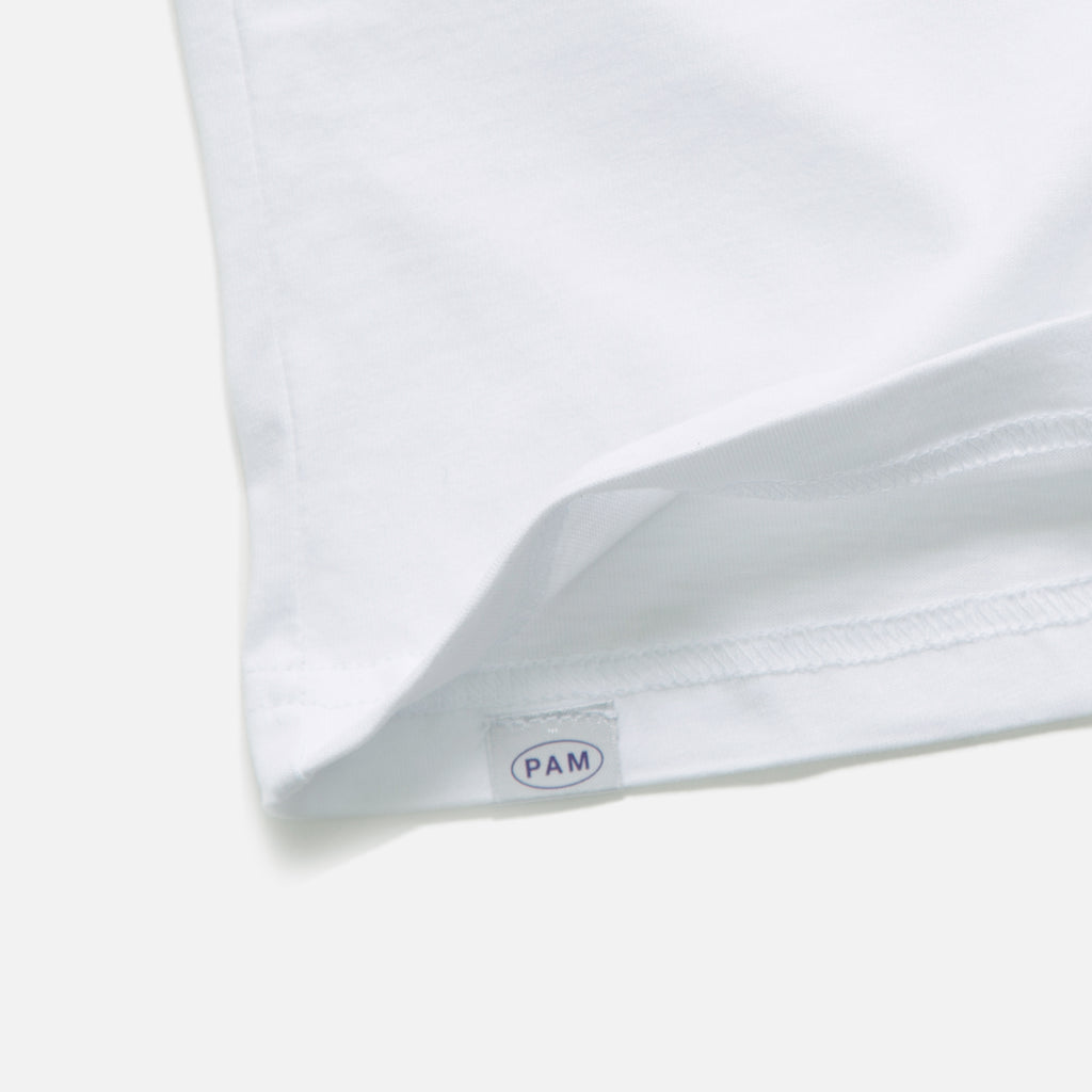 Aqueduct Short Sleeve T-shirt in White from the Autumn 2020 P.A.M (Perks & Mini) collection blues store www.bluesstore.co