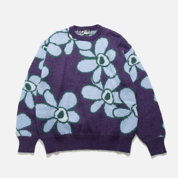 Dr. Octagon Knitted Jumper with jacquard knit Blue Flowers from the P.A.M. (Perks and Mini) Autumn 2020 collection blues store www.bluesstore.co