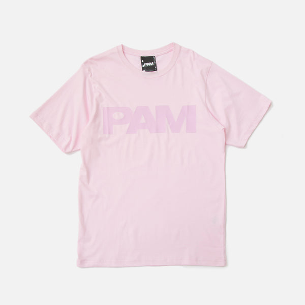 perks and mini P.A.M. (S.Loops) Logo T-shirt Pale Pink blues store