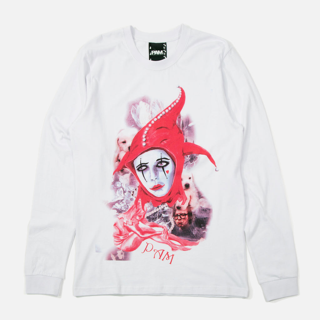 Perks & Mini P.A.M Playing The Fool Longsleeve T-shirt - White