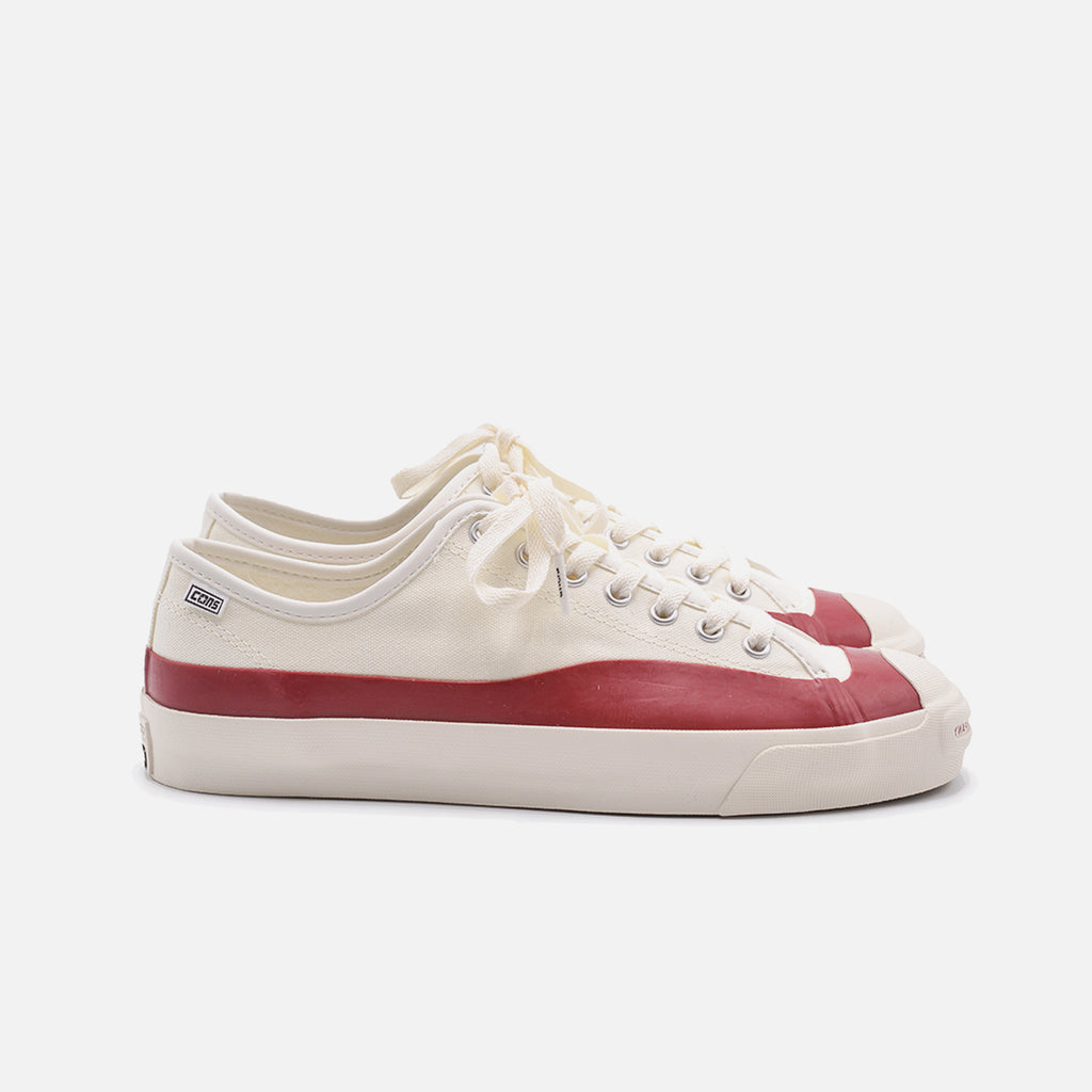 Pop Trading Company + Converse Jack Purcell Pro Ox in White and Red blues store www.bluesstore.co