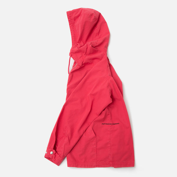 Pop Trading Company DRS Halfzip Hooded Jacket Coral Blues Store