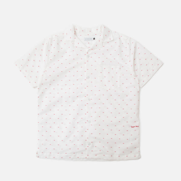 Pop Trading Company Hugo Shirt in White Blues Store