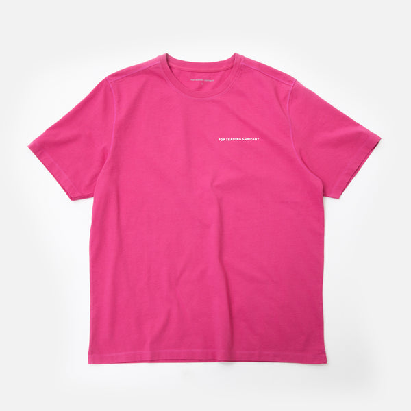 Pop Trading Company Logo T-shirt in Pink Blues Store