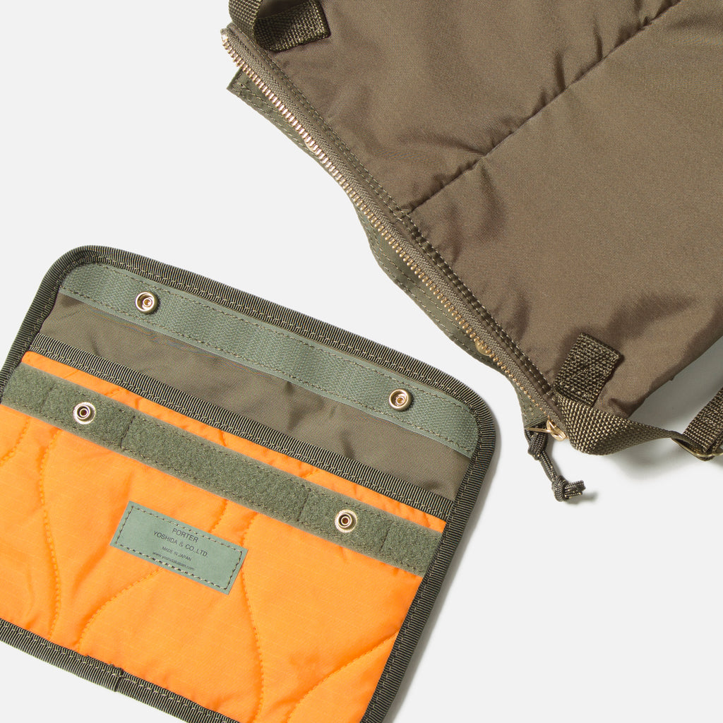 Force Shoulder Bag from Porter Yoshida in Olive Drab blues store www.bluesstore.co