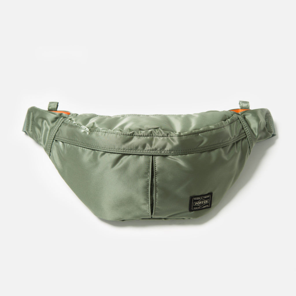 Small Tanker Waist Bag from Porter Yoshida in Sage Green blues store www.bluesstore.co