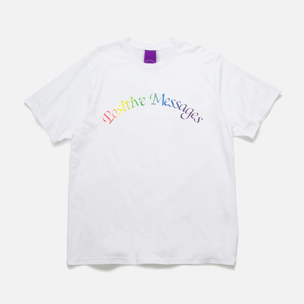 Poz Mez Blend t-shirt in white from the P.A.M (Perks and Mini) Positive Messages blues store www.bluesstore.co