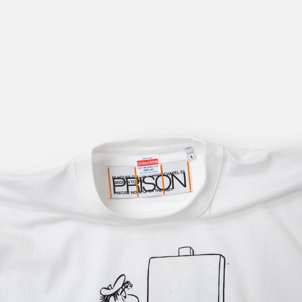 Nothing Doing t-shirt in white from Prison Blues Store