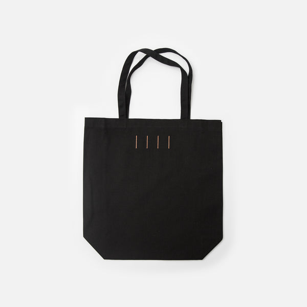 Logo tote in black from Prison Blues Store