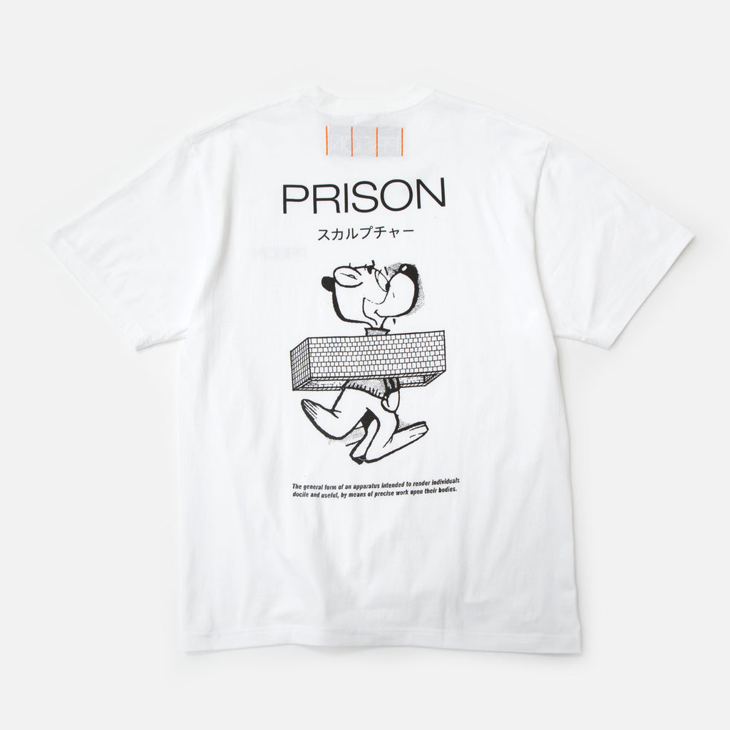 Precise Work t-shirt in white from Prison Blues Store
