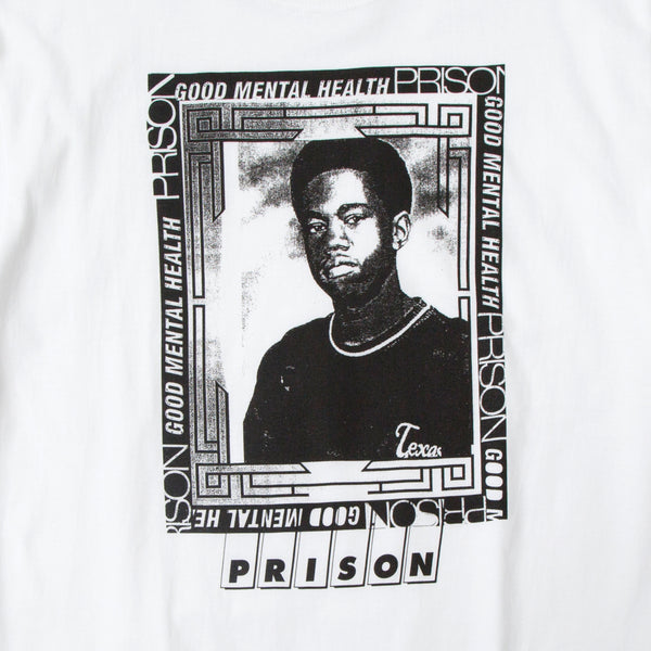 Young Kanye t-shirt in white from Prison Blues Store