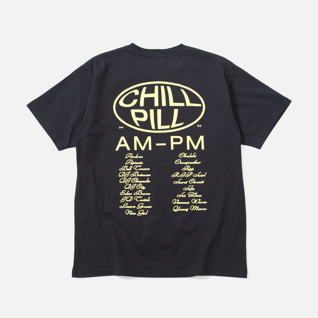 Chill Pill II t-shirt in charcoal from Public Possession blues store www.bluesstore.co
