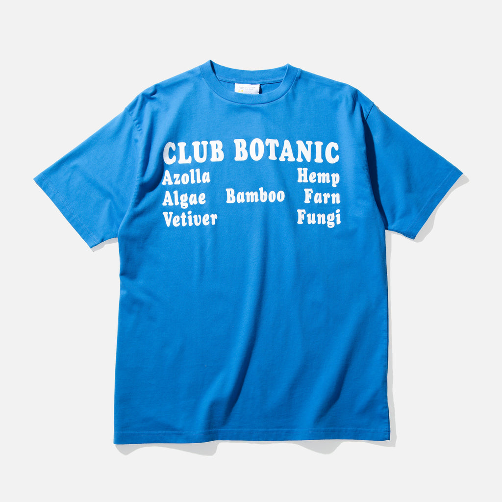 Club Botanic t-shirt in blue from Public Possession blues store www.bluesstore.co