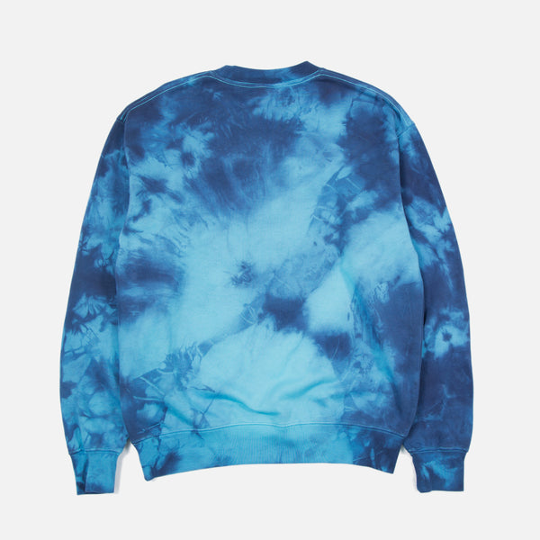 Dip Crewneck Sweatshirt in Multi Hand Dye finish from the Public Possession Blues Store www.bluesstore.co