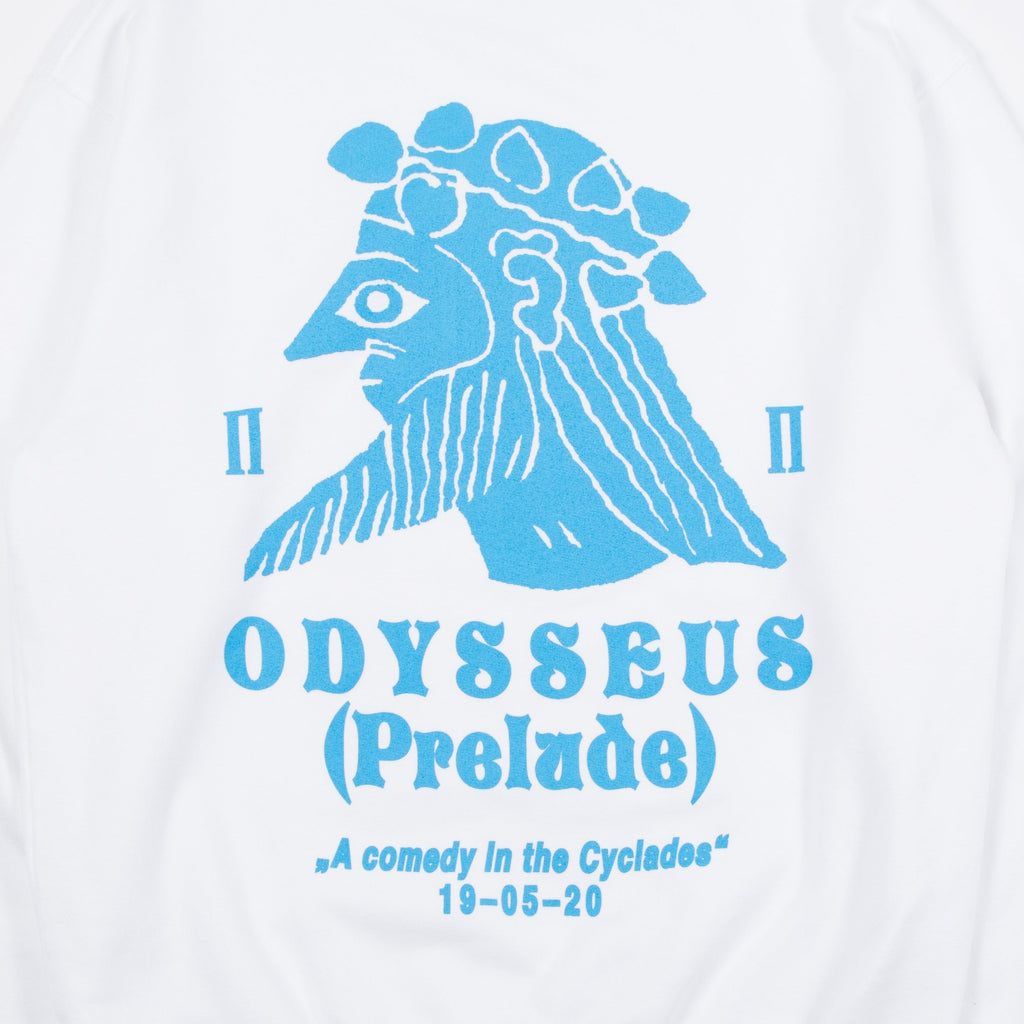 Public Possession Odysseus Sweatshirt in Snow White Blues Store www.bluesstore.co