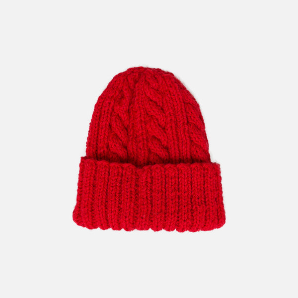 Inverallan for Colourway Cable Knit Beanie - Red