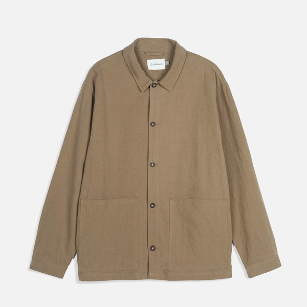 Linen Sprout Jacket in Muted Olive from Satta blues store www.bluesstore.co