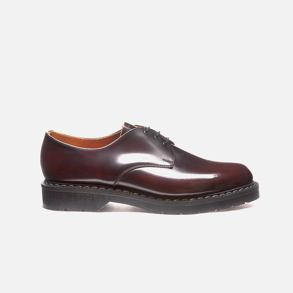 Gibson 3 Eye Shoe in Burgundy Rub-Off from the Solovair Classic line blues store www.bluesstore.co