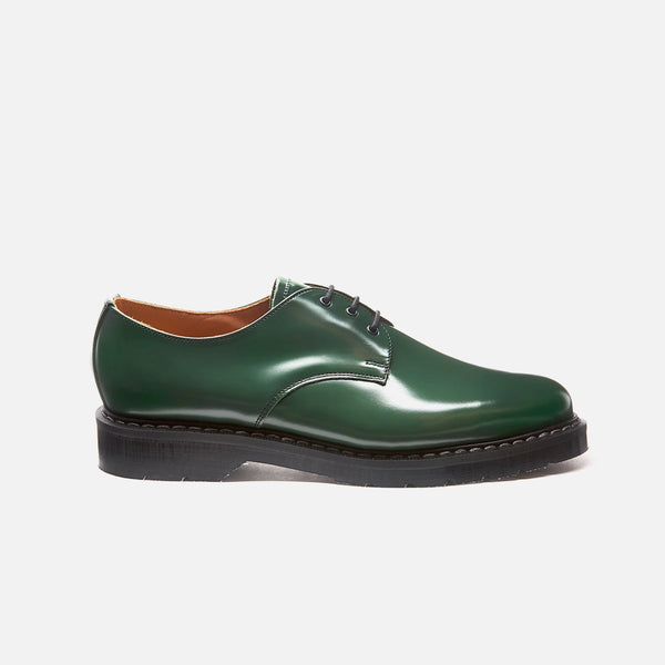 Gibson 3 Eye Shoe in Green from the Solovair Classic line blues store www.bluesstore.co