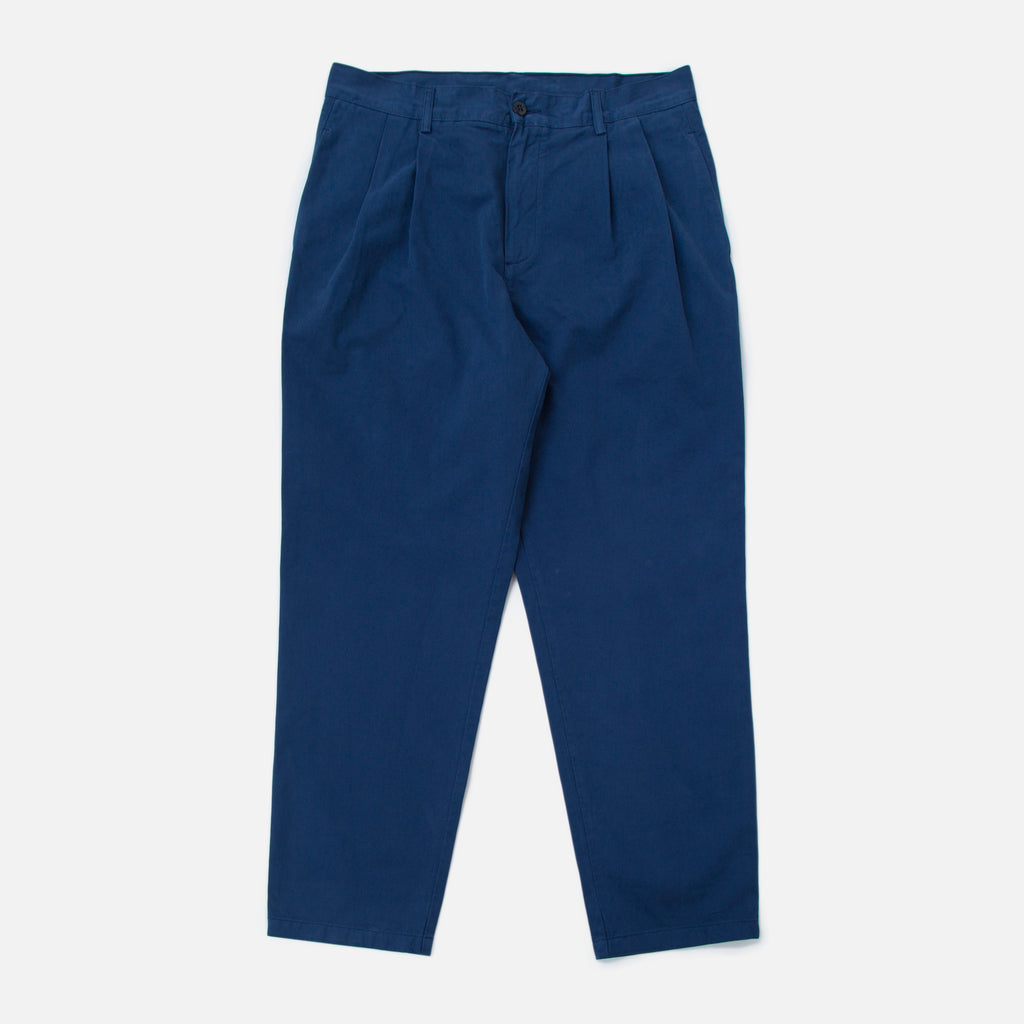 Double Pleat Chino in Navy from the Spring / Summer 2020 Stan Ray collection blues store www.bluesstore.co