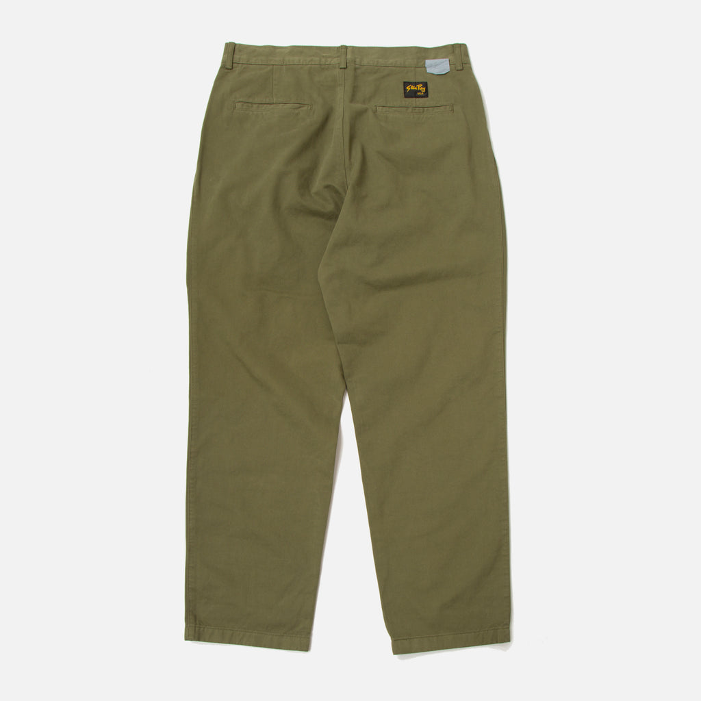 Double Pleat Chino in Olive from the Spring / Summer 2020 Stan Ray collection blues store www.bluesstore.co