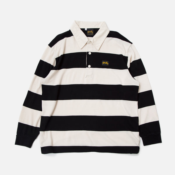 Rugby Shirt - Black / Natural