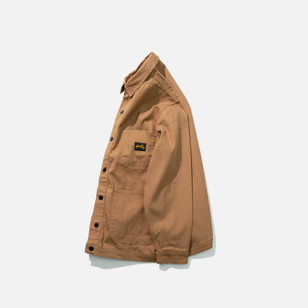 Classic Barn Coat Jacket in Washed Brown Duck from Stan Ray blues store www.bluesstore.co
