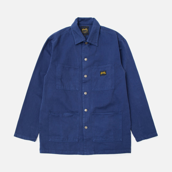 Classic Shop Jacket in Navy overdye from the Spring / Summer 2020 Stan Ray collection blues store www.bluesstore.co