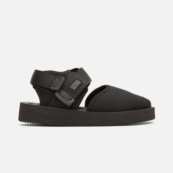 The Bita-V Sandals inBlack Calf Hair from Suicoke's SS20 collection is a bonded jersey sandal blues store www.bluesstore.co