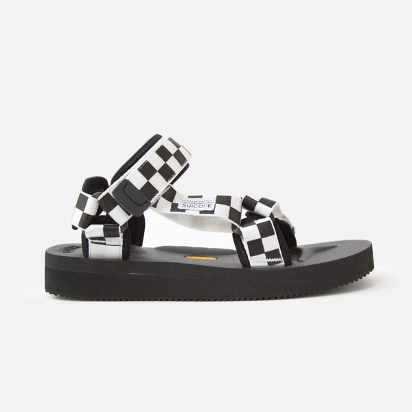 Suicoke Depa V-2 Checkerboard Sandals - White / Black Blues Store