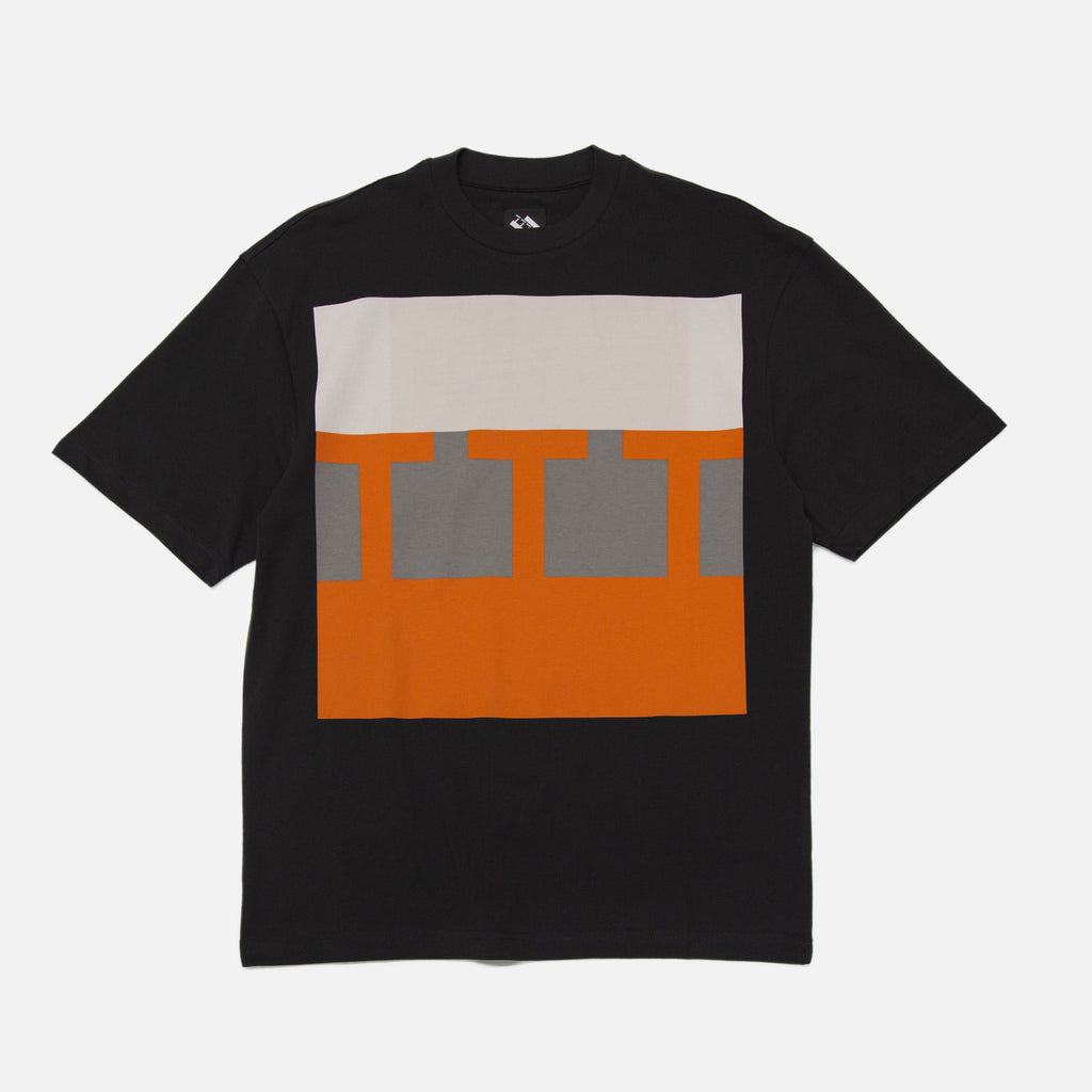 Block T-Shirt in Black from The Trilogy Tapes Winter 2020 collection blues store www.bluesstore.co