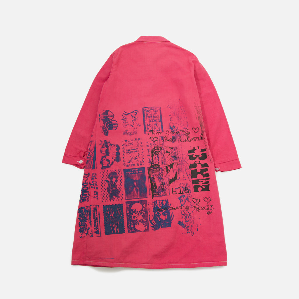 Tydrax618 Curse Protection Overcoat in Pink blues store www.bluesstore.co