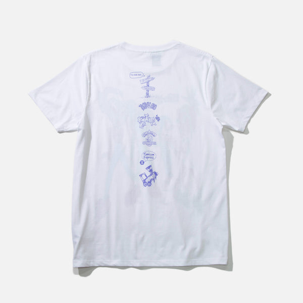 Micro Mouse People T-shirt in white by Leomi Sadler blues store www.bluesstore.co