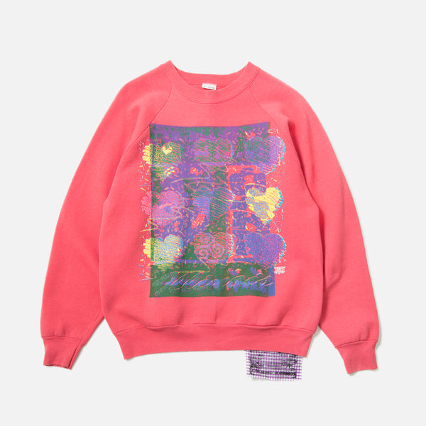 Tydrax Test Item Sweatshirt in Hot Salmon Pink blues store www.bluesstore.co