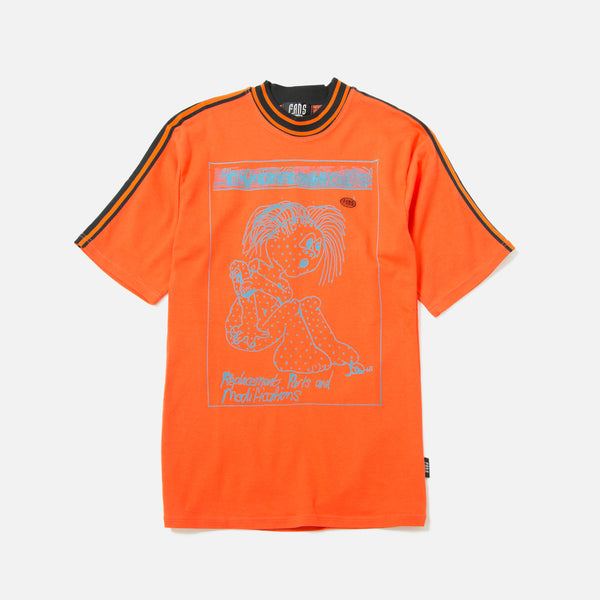 Tydrax Test Item T-shirt in Orange with Stripes blues store www.bluesstore.co