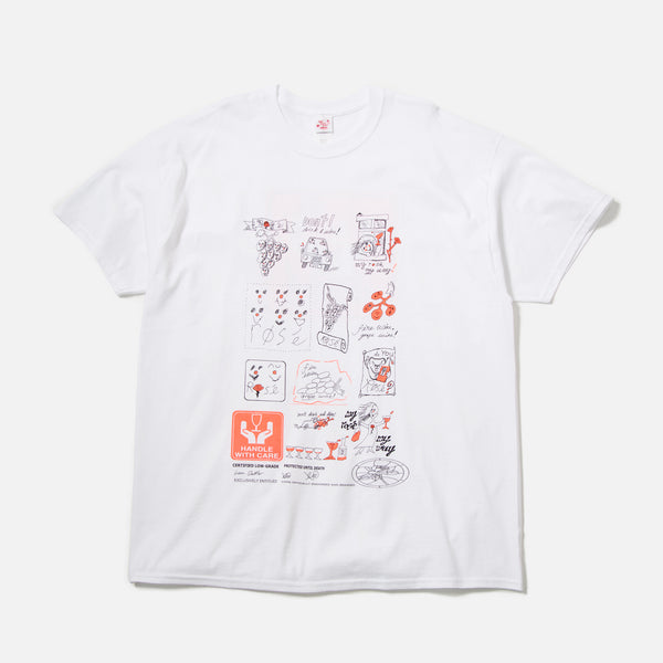Xiaolong Special Rose Wine T-shirt in White blues store www.bluesstore.co