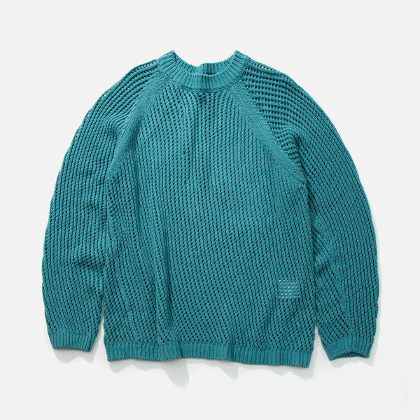 Womens 100% cotton crochet knit pullover from Unused blues store www.bluesstore.co
