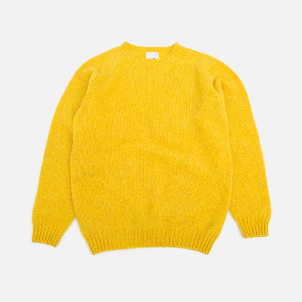 Colourway Yellow Brushed Lambswool Pullover