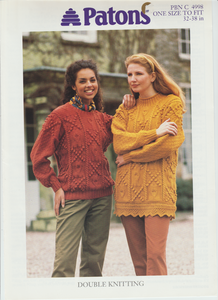 Knitting Pattern Leaflet Patons 4998 Ladies DK Sweaters