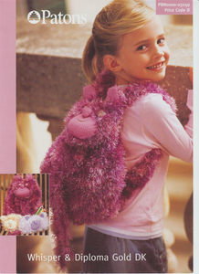 Knitting Pattern Leaflet Patons 3249 Fur DK Rucksack, pencil case & purse