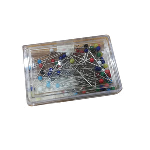Haberdashery Multicolour Glass Head Pins Pack
