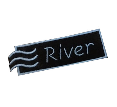 Motif Patch Personalised Name Water Element Border