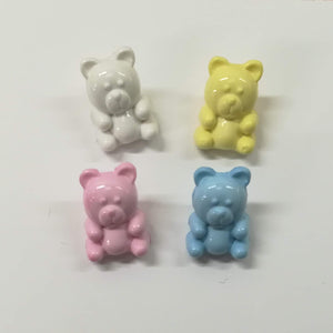 Buttons Plastic Kids Cute Teddy 15mm (1.5cm)